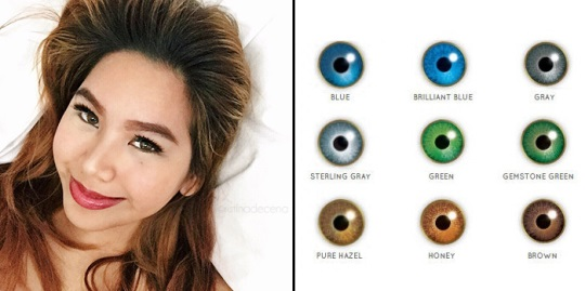color prescription contact lenses