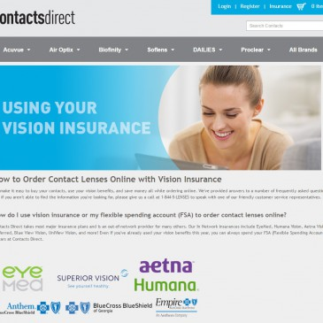 Using Vision Benefits Online For Glasses or Contact Lenses
