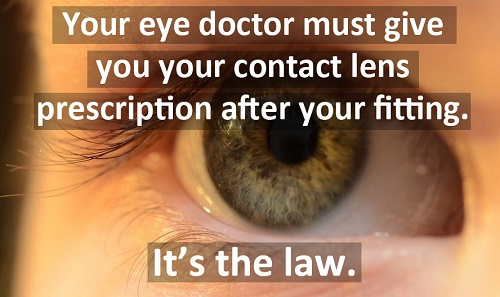 Convert glasses prescription to contact lenses - The contact lens rule