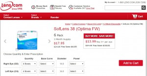Cheap Monthly Contact Lenses - Soflens 38 at Lens