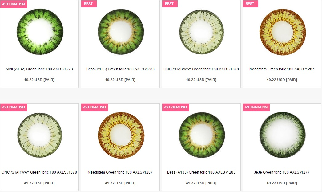 4da050c5d6 The Problem With Color Contact Lenses For Astigmatism From QueenContacts -  Green Color Contact Lenses