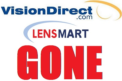 VisionDirect.com and LensMart.com GONE – Absorbed by Walgreens