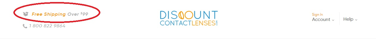 cheap contact lenses online with free shipping - DiscountContactLenses.com banner
