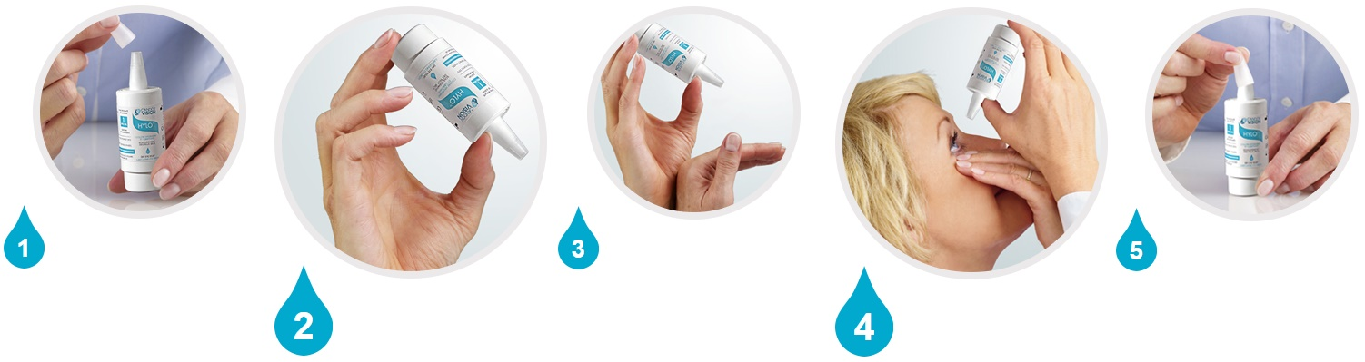 Hylo eye drops - how to use HYLO