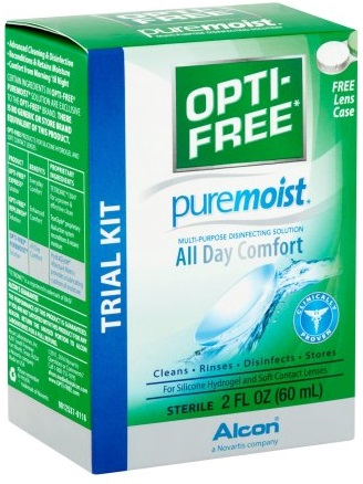travel size contact lens solution - Alcon Opti-Free puremoist
