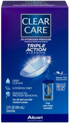travel size contact lens solution - Clear Care Travel Pack