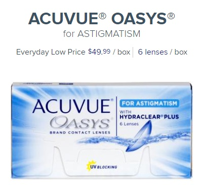 Acuvue Oasys for Astigmatism at 1800contacts
