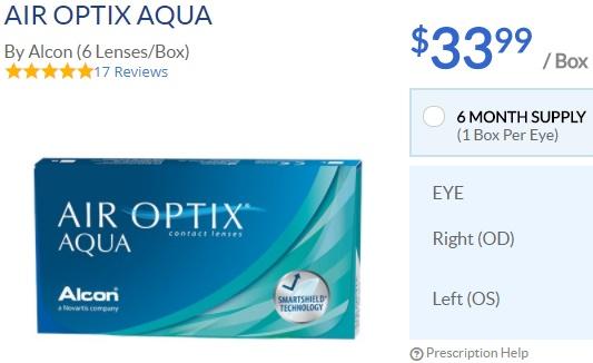 Air Optix Aqua at ACLens