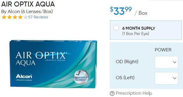 Air Optix Aqua at DiscountContactLenses