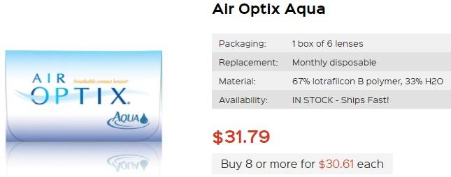 Air Optix Aqua at PriceSmartContacts
