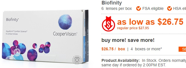 Biofinity at ContactLensKing