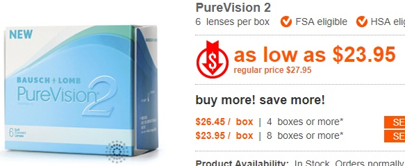 PureVision2 at ContactLensKing