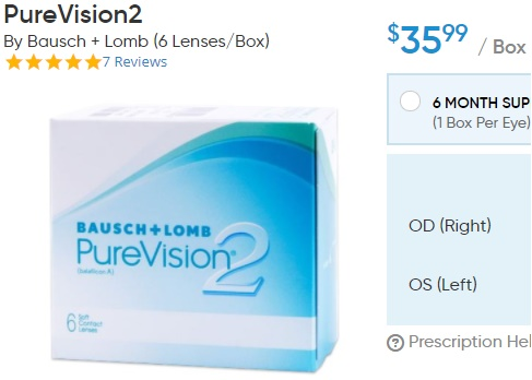 PureVision2 at DiscountContactLenses