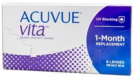 extended wear contact lenses brands - Acuvue Vita