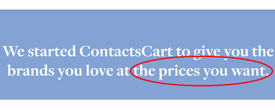 ContactsCart - at the prices you want