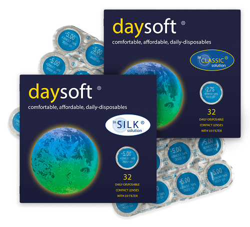 DaySoft Classic and Silk Contact Lenses Boxes